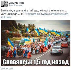 #Славянск - это #Украина.  8 месяцев назад - День Славянска - 7 сентября 2013 г., за 8 месяцев до прихода террористов