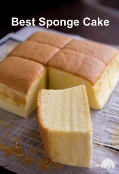 Sponge Cake Recipes, Chinese Sponge Cake Recipe, Chinese Egg Cake Recipe, Perfect Sponge Cake Recipe, One Egg Cake Recipe, Milk Sponge Cake Recipe, Chinese Cake, Japanese Cake, Bun Recipe