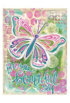 Be Your Beautiful Self Lámina por Erin Butson en AllPosters.com.ar.
