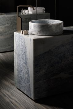 Gessi Rettangolo XL and Marble by Antolini