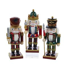 Kurt Adler 9Inch Wooden Chubby Nutcracker Assorment of 3 Styles Case of 4 * Details can be found by clicking on the image.