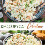 Homemade Coleslaw {KFC Copycat!} - The Seasoned Mom Kfc Coleslaw, Homemade Coleslaw, Coleslaw Dressing, Vidalia Onions, Slaw Recipes, Best Side Dishes, No Calorie Foods