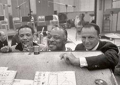 Quincy Jones, Count Basie and Frank Sinatra