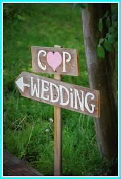 Arrow Wedding Signs Rustic Wedding Intials Sign by TRUECONNECTION, $60.00