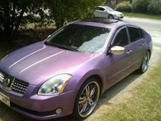 I want a purple Nissan this color!