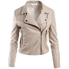 Sans Souci Taupe vegan leather moto jacket ($59) ❤ liked on Polyvore featuring outerwear, jackets, taupe, collar jacket, brown faux leather jacket, asymmetrical zip jacket, fake leather jacket and vegan leather jacket