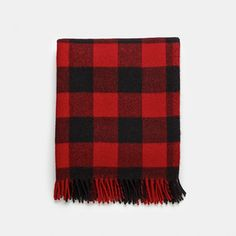 Unison Buffalo Red Wool Throw Blanket