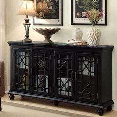Gavelston Distressed Black Accent Cabinet by Signature Design by ...