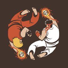 Super Yin-Yang by Michael Myers, via Behance  #gaming #capcom #streetfighter #ryu #ken #fanart