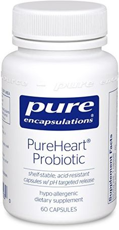 Pure Encapsulations - PureHeart® Probiotic 60's - Maintains healthy cholesterol levels already in the normal range. In a 9-week, randomized, double-blind, placebo-controlled, multicenter trial, supplementation with Lactobacillus reuteri NCIMB 30242 maintained healthy cholesterol metabolism by promoting bile acid hydrolase activity. Bile acids... - http://ehowsuperstore.com/bestbrandsales/health-personal-care/pure-encapsulations-pureheart-probiotic-60s