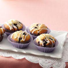 Glazed Lemon Blueberry Muffins Recipe from Taste of Home -- shared by Kathy Harding of Richmond, Missouri