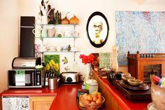 Bunte Küche.