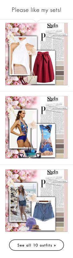 """""""Please like my sets!"""" by followme734 ❤ liked on Polyvore featuring shein"""