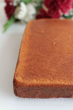 Basic Vanilla Sponge Cake -base for all your cakes | sirisfood.com
