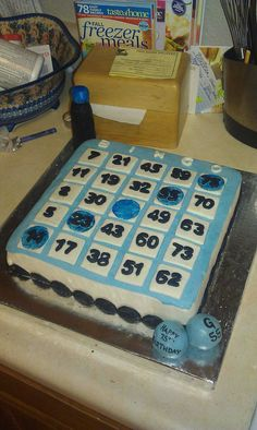 For those whole love bingo 90th Birthday Parties, Mom Birthday, Birthday Celebration, Birthday Cakes, Birthday Gifts, Bingo Cake, Bingo Party, Cake Decorating, Decorating Ideas
