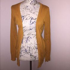 Yellow button up cardigan forever 21, plain cardigan Forever 21 Sweaters Cardigans