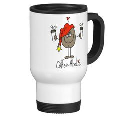 """If you love coffee, humor, and stick figures you'll love this cute Coffee-aholic design featuring a stick figure coffee bean with a cup of java in each of his hands and text that reads """"Coffee-Aholic""""! Coffee humor T-shirts, mugs, mousepads, stickers, buttons, tote bags, and more! #stick #figures #coffee #coffee #bean #customizedfunny #coffee #cheap #unique #gift #ideas #gift #ideas #cheap #unique #novelty #gifts #need #coffee #love #coffee #coffee #lover #java #cute #coffee #unique #coffee…"""