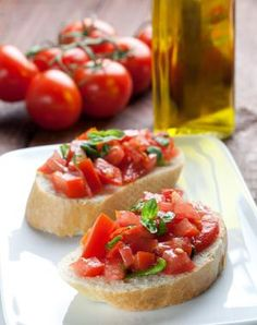 Recipe: Bruschetta (Follow our other boards for detox, fitness, yoga and green living tips: pinterest.com/gaiam)