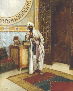 Rudolf Ernst (Austrian, 1854-1932)  The jewelry box  signed 'R.Ernst' (lower left)  oil on panel  29 x 23 in. (73.7 x 58.5 cm)