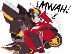 Transformers and Overwatch are the main things i enjoy drawing but. Transformers Prime Bumblebee, Transformers Funny, Fight Me Meme, Doujinshi, Anime Love, Art Sketches, Fan Art, Cartoon, Robot