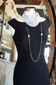 Frank Lyman Black Fringe Dress