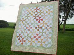 "Fig Tree Fresh Cottons fabrics by Moda // quilt by Flickr user ""barncat1"""