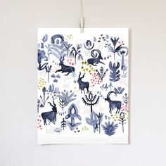 Whistling Goats, 11x14 print by KatieVernon on Etsy https://www.etsy.com/listing/219450309/whistling-goats-11x14-print