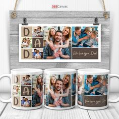 On Father's Day this year or dad's birthday, skip mediocre gifts and go for something personal! And if you want to gift dad something useful for everyday use, a coffee mug is just perfect. So this DAD photo collage coffee mug is the right gift you are looking for! Customize the gift with your favorite photos of dad and family. The photo collage is a great way to let him look back on the beautiful memories with his children. And on top of that, you can enter a personal message to your dad.