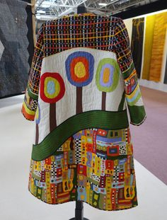 I am still enjoying my photos from the Festival of Quilts, even though this is not exactly news anymore. They have a competition category called Quilt Creations, where you may enter every quilty th… Quilt Festival, Quilted Clothes, Altered Couture, Recycled Fashion, Recycled Clothing, Patchwork Dress, Quilted Jacket, Quilted Coats, Mode Inspiration