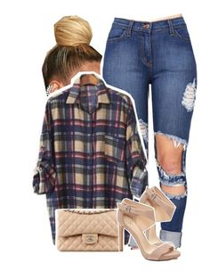 """Untitled #1283"" by kiaratee ❤ liked on Polyvore featuring PEPER, Vince Camuto and Chanel"