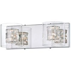 "Possini Euro Design Wrapped Wire 14"" Wide Bathroom Light. Two these over sink & makeup vanity"