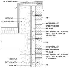 Wood Parapet Wall Detail  sc 1 st  Pinterest & Typical parapet wall detail | Architecture - Details | Pinterest ... memphite.com
