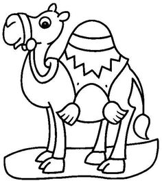 Pretty Camel Color Page Free Printable Coloring Sheets For Kids