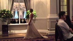 The beautiful 'Carli' wedding dress by bridal designer Catherine Deane on the catwalk http://www.londonfittingrooms.com/bridal-alterations/