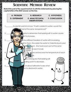Scientific Method SORT Cut & Paste w/ Descriptions & Examples! REVIEW! DIGITAL! Science Worksheets, Science Curriculum, Vocabulary Activities, Science Resources, Science Lessons, Teaching Science, Science Activities, Science Experiments, Teaching Resources