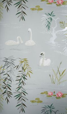 Swan Lake wallpaper by Nina Campbell at Osbourne & Little