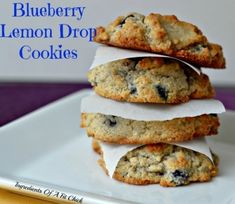 Ripped Recipes - Blueberry Lemon Drop Cookies - A sweet cookie that is so soft it melts in your mouth!