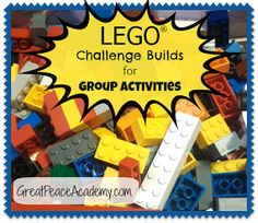 Challenges Lego Challenge Build for Group Activities Peace Academy Academy.Lego Challenge Build for Group Activities Peace Academy Academy. Stem Projects, Lego Projects, School Projects, School Ideas, Lego Engineering, Engineering Challenges, Lego Therapy, Lego Math, Lego Jr
