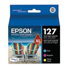Best Buy NEW-T127520 127 High-Yield Ink, Cyan, Magenta, Yellow, 3/Pack - T127520 The best prices online - http://topprintersink.com/best-buy-new-t127520-127-high-yield-ink-cyan-magenta-yellow-3pack-t127520-the-best-prices-online