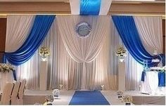 Free Shipping ! Blue +White Romantic Pipe and Drape For Wedding ...