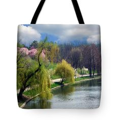 #Spring at the #Lake #Tote #Bag  by Judi Saunders
