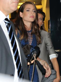 Charlotte leaving the Gucci Beauty party in Milan yesterday