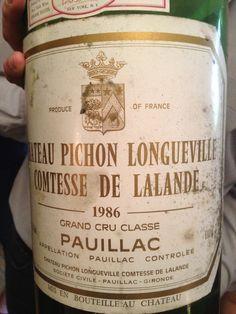 1986 Pauillac, Vintage #Bordeaux #wine