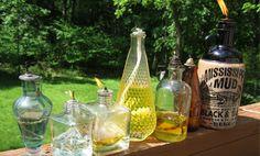 DIY Upcycled Glass Bottle Tiki Torches