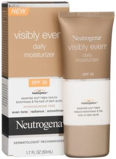 Neutrogena Visibly Even Daily Moisturizer, SPF 30, 1.7 Ounce (Pack of 2)