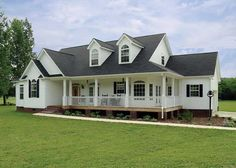 Charming farmhouse with covered porches in front and back of the home. 3 Bedroom, 2 Bath with a bonus room on the upper level. House Plan # 131047.