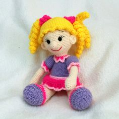 Emma  Knitted doll toy for children  Нand made  by KNartDesign