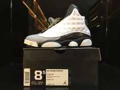 425a296413d4 Air Jordan XIII  Barons  White Black-Grey-Teal For Sale