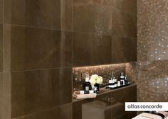 #MARVEL bronze | #Mosaic | #Wall design | #AtlasConcorde | #Tiles | #Ceramic