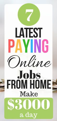 7 High Paying Jobs From Home To Make Extra Money Fast - Make Money Online Online Jobs For Moms, Legit Online Jobs, Online Work, Online Careers, Work From Home Jobs, Make Money From Home, Way To Make Money, How To Make, Money Fast